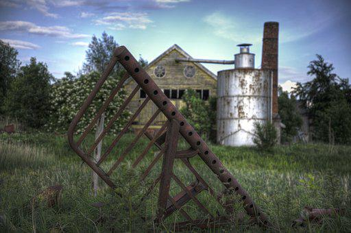 Old, Farm, Factory, Agriculture, Rural, Countryside