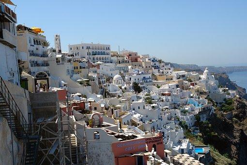 Santorini, Thira, Greece, Travel, Tourism, Island
