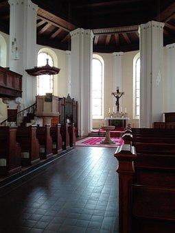 Church Of Templin, Altar, Religion, Cross, Architecture