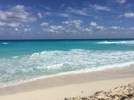 Cancun, Beach, Sea, Mexico, Caribbean, Tropical