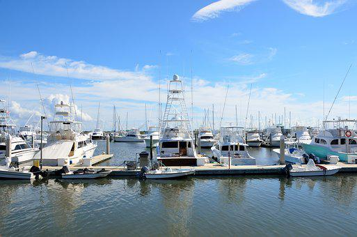 Boat, Marina, Stored, Moored, Secured, Security