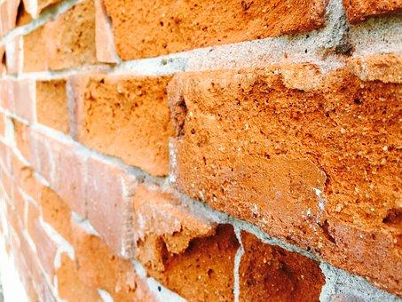 Brick, Wall, Concrete, Orange Wall