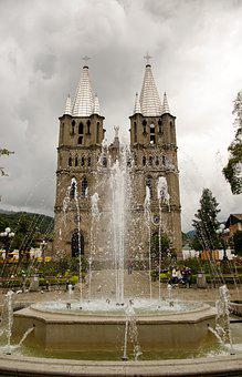Colombia, Jardin, Coffee Zone, Church, Architecture