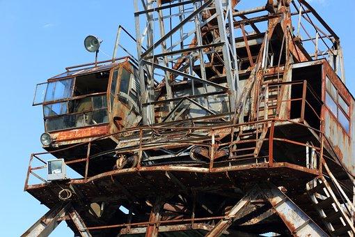 Croatia, Bakar, Industry, Harbor, Crane, Rust