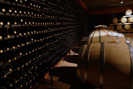 Wine Cellar, Wine, Cellar, Winery, Bottle, Glass, Old