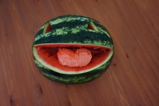 Melon, Happy, Food, Fruit, Smiling, Cheerful
