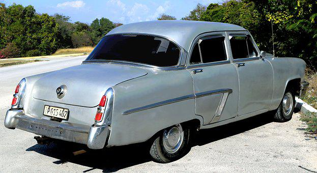 Cuba, Car, Silver, Mercury, Vintage, Havana, Old, Retro