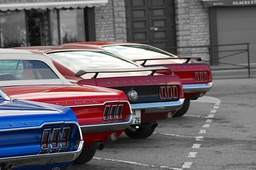 Mustang Tails, Mustang, American Muscle Cars