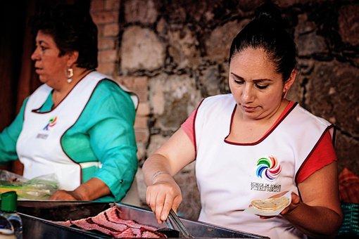 Culture, People, Group, Women, Cook, Street Food