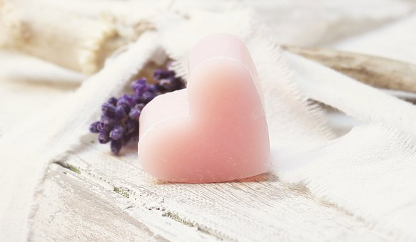 Lavender, Heart, Books, Pink, Heart Soap, Soap Heart