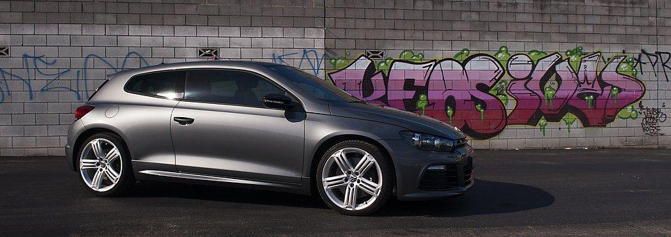 Volkswagen, Scirocco, Graffiti, Car, Tag, Vehicle, R