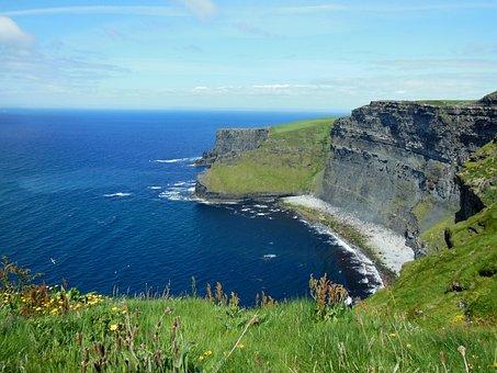 Nature, Travel, Ireland, Cliffs Of Moher Munster
