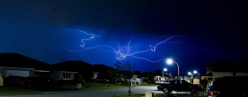 Lightning, Storm, Perth, Australia