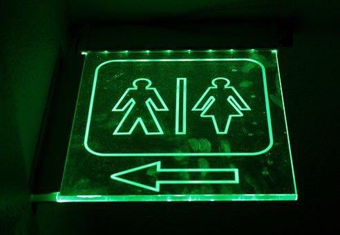 Men, Women, Bathroom, Sign, Toilet, Restroom, Wc