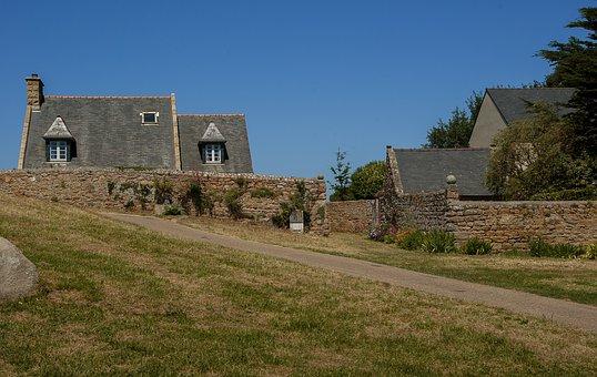 Brittany, Brehat Island, Architecture, Granite