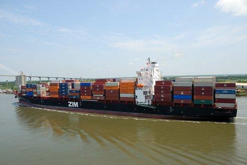 Cargo Container Ship, Ship, Vessel, Transport, Cargo