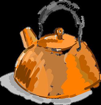 Kettle, Copper, Tea, Metal, Old, Vintage, Water, Pot