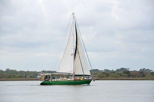 Sailboat, Sail, Recreation, Leisure, Park, Boat, Sea