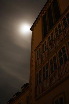 Midnight, Creepy, School, Moon, Weird, Leave