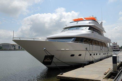 Luxury Yacht, Upscale, Dock, Moored, Savannah, Georgia