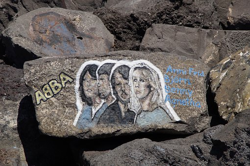 Abba, Musician, Stars, Music Group, Band, Monument, Art