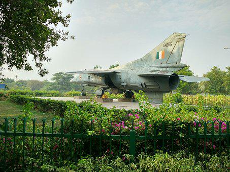 Old Jet, Indian Air Force, Fighter Plane, Green Plane