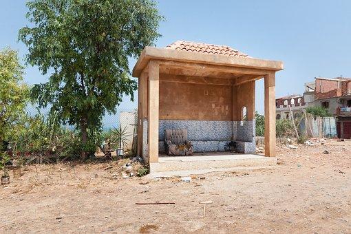 Stop, Road, Tipaza, Algeria, Africa, Architecture