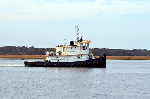 Tug Boat, Boat, Tow, Barge, Water, Transport, Tug, Ship