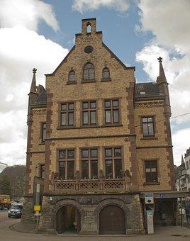 Town Hall, St Goar, Middle Rhine, Rhine, Sachsen, River