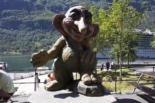 Norway, Troll, Figure, Art, Troll Figure, Cheeky