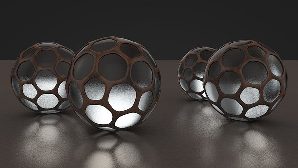 Rendering, 3d, Ball, Lamp, Background, Glass, Mirroring