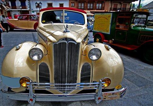 Spain, Antique Car, Chrome, Car Show, Rally