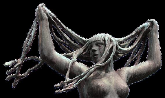 Sculpture, Naked, Bosom, Erotic, Breasts, Hair, Female