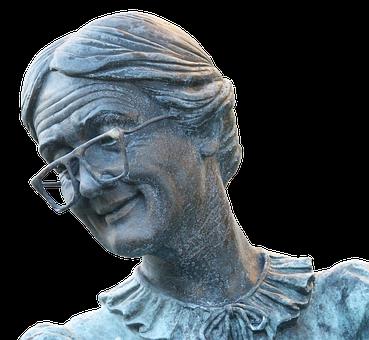 Grandmother, Elderly Woman, Statue, Sculpture, Senior