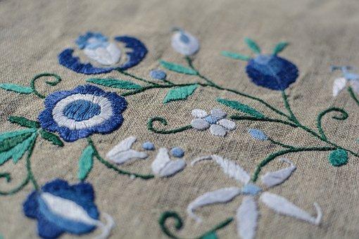 Embroidery, Linen, Thread, Craft, Textile, Needlework