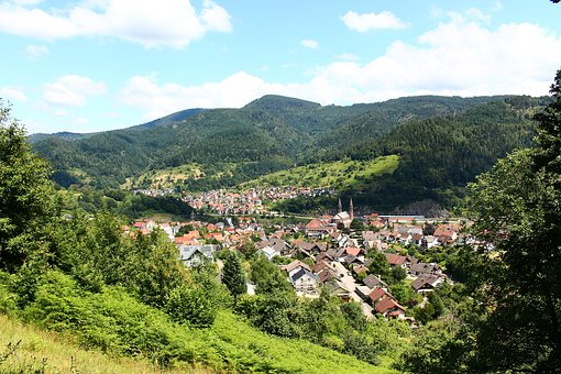 Forbach, Black Forest, Mountains, Murg Valley, Sky