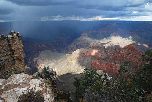 Grand Canyon, Rain, National Park, Canyon, Arizona