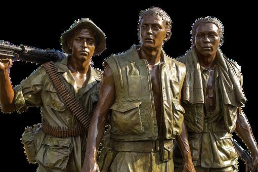 Vietnam Memorial, Soldiers, Bronze, Monument, Statue