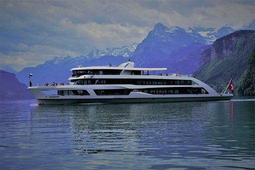 Lake Lucerne Region, Ship, Tour, Lake, Water, Alpine