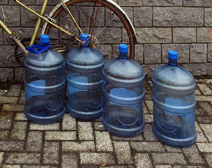 Water Bottles, Bike, Patch, Water Supply, Still Life