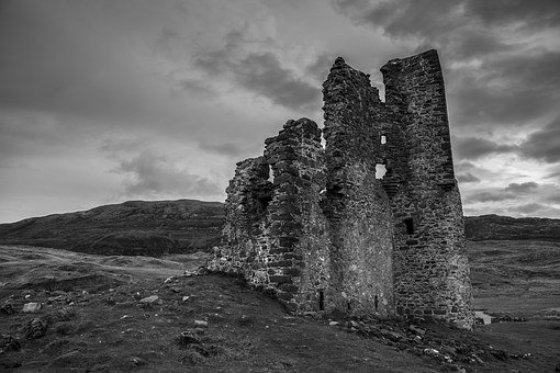 Scotland, Castle, Ruin, Landmark, Building, Ancient