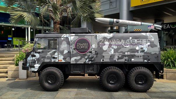 Armoured Vehicle, Military, Coffee, Display Vehicle