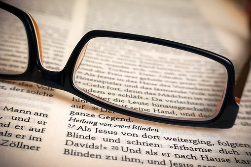 Bible, Glasses, Healing, Read, Blind, Blind Cure, Book