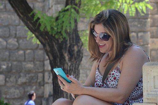 Cellular, Woman, Phone, Photo, Smile, Female, Selfie