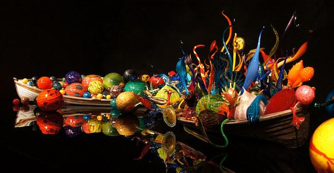 Chihuly, Glass, Art, Colorful, Dale Chihuly, Row Boats