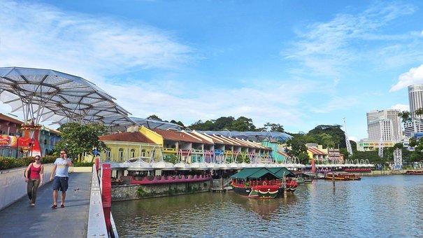 Clarke Quay, Singapore, Tourism, Building, Landmark