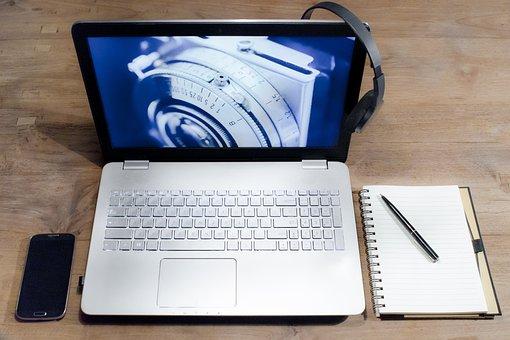 Computer, Laptop, Desk, Headphone, Notebook, Smartphone