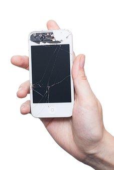 Iphone, Mobile Phone, Smartphone, Display, Broken