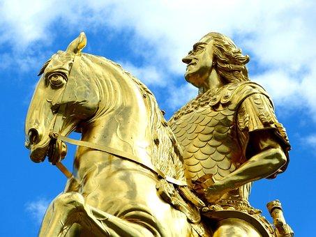 Monument, Golden Rider, Dresden, August, Gold