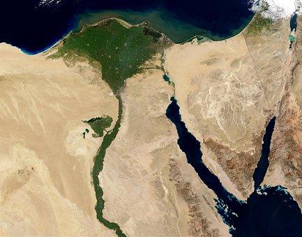 Map, Land, Egypt, Geography, Satellite Image